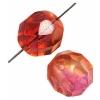 Fire polished 8mm Crystal/orange/fuchsia Two-tone Aurora Borealis